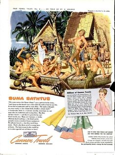 Steamy Homoerotic World War II Towel Ad.