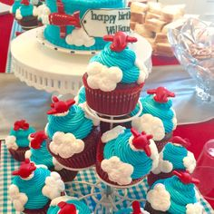 Airplane fondant cupcake and cake toppers by 1stAndCakes on Etsy