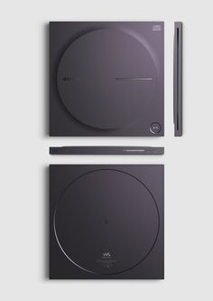 Milled block of aluminum with a protruded disc profile is an homage to Sony Discman D-2 via © twelvemonthly.