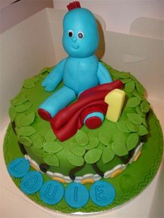 Iggle piggle cake Cake by Debbie Bowers First Birthday Parties, Boy Birthday, First Birthdays, Birthday Cakes, Birthday Ideas, Double Chocolate Cake, Fondant Tutorial, Novelty Cakes, Occasion Cakes