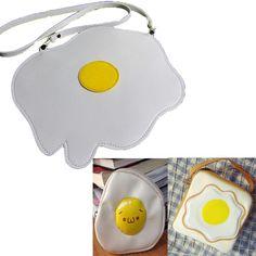 Bolso Huevo/Egg Bag 17cm*12cm  Monedero Huevo/Egg Wallet 13*12cm  Bolso Tostada Huevo/Egg Toast Bag 19cm*19cm*7cm