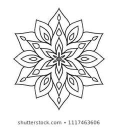 Basic easy simple Mandalas coloring book for beginners and children Simple Mandala Tattoo, Geometric Mandala Tattoo, Mandala Tattoo Design, Mandala Drawing, Mandala Art, Doodle Patterns, Zentangle Patterns, Dot Pattern Vector, Boho Tattoos