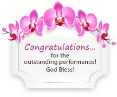 Congratulations for the outstanding performance. New Job Congratulations Cards Congratulations Messages For Achievement, Congratulations Grandma, Congratulations Pictures, Congratulations Greetings, Congratulations Graduate, Happy Birthday Mother, Happy Birthday Greetings, I Love You God, Birthday Blessings