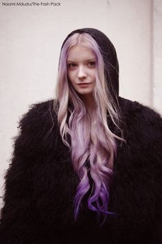 blonde to purple ombre