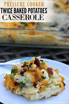 This Instant Pot Twice Baked Potatoes Casserole Recipe is amazing! You are going to love this easy pressure cooker loaded baked potato casserole recipe. This recipe is the best to make ahead so that you can easily make it for a crowd or for the holidays. #eatingonadime #instantpotrecipes #pressurecookerrecipes #sidedishes Loaded Baked Potato Casserole, Potatoe Casserole Recipes, Potato Recipes, Instant Pot Pressure Cooker, Pressure Cooker Recipes, Pressure Cooking, Pressure Cooker Potatoes, Slow Cooker Casserole, Runza Casserole