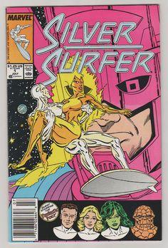Silver Surfer V3 1.  VF/NM.  Jul 1987.  by RubbersuitStudios #silversurfer #comicbooks #marshallrogers