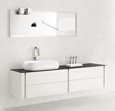 Modern Bathroom Vanity - Blanc