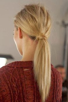 rough finger tousled lower crown volume low ponytail