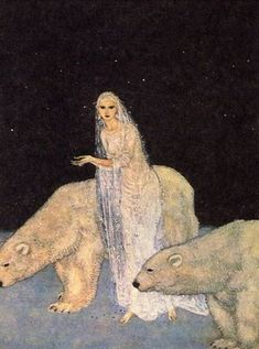 """'Dreamer of Dreams' by Edmund Dulac (1915) Inspired by """"East of the Sun West of the Moon"""