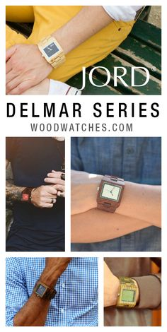 The Delmar Series from JORD comes in a variety or natural woods and saturated carbon fiber faces. Which Delmar suits you? Jord's unique styles can be shipped world wide for free and their wood is never stained or painted, just hand finished with natural oil.A perfect addition to your wrist's wardrobe.
