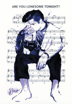 """( ☞ 2017 IN MEMORY OF ★ † ELVIS PRESLEY """" Rock & roll ♫ pop ♫ rockabilly ♫ country ♫ blues ♫ gospel ♫ rhythm & blues ♫ """" ★ Are You Lonesome Tonight? ♫ """" ) ★ † ♪♫♪♪ Elvis Aaron Presley - Tuesday, January 08, 1935 - 5' 11¾"""" - Tupelo, Mississippi, USA. † Died; Tuesday, August 16, 1977 (aged of 42) Resting place Graceland, Memphis, Tennessee, USA. Cause of death: (cardiac arrhythmia)."""