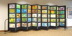 Tack, Pin or Staple Artwork onto this Portable Art Display   Screenflex Portable Room Dividers