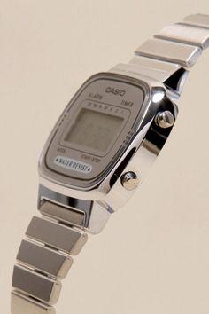 Silver Face Casio Watch