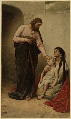 Christ Healing the Blind, Gabriel Max