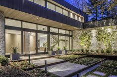 Ferndale Residence featuring ErthCOVERINGS Silver Fox Panels (SF-PAN) on both the interior and exterior walls