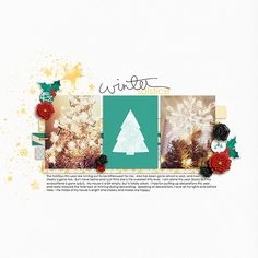 Winter Solstice - digital scrapbook layout by Kacy using Gilded by Karla Dudley and Anita Designs