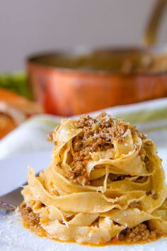 Ragù alla Bolognese is one of the most important recipes of my own city. Here I prepared for you the authentic version starting from my family recipe! Famous Italian Dishes, Best Italian Recipes, Great Recipes, Italian Pasta Recipes Authentic, Recipe Ideas, Tuscan Recipes, Italian Menu, Recipe List, Italian Foods