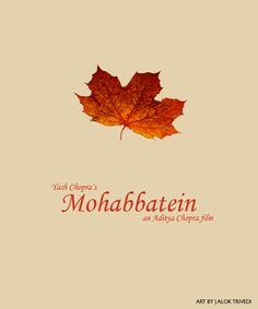 Mohabbatein Minimal Movie Posters, Minimal Poster, Film Posters, Actor Quotes, Bollywood Posters, 90s Movies, Movie Covers, Indian Movies