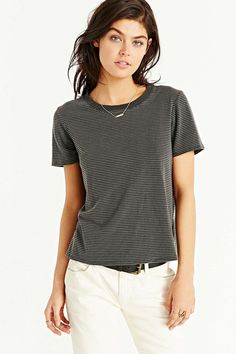 Truly Madly Deeply Striped Boyfriend Ringer Tee - Urban Outfitters