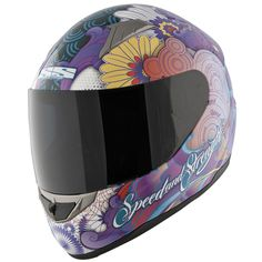 Speed and Strength Women's SS1100 Flower Power Helmet - Street Motorcycle - Motorcycle Superstore and this one