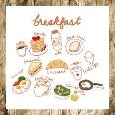 Food Doodles, Cute Doodles, Stickers Kawaii, Cute Stickers, Cute Food Drawings, Drawing Of Food, Journal Stickers, Food Illustrations, Cute Illustration