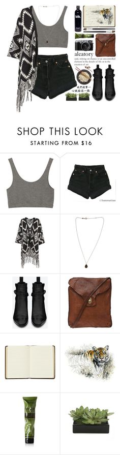 """Tyger tyger burning bright"" by ctodtims ❤ liked on Polyvore featuring Monki, Levi's, Kismet, Yves Saint Laurent, Campomaggi, Harrods, Aesop and Lux-Art Silks"