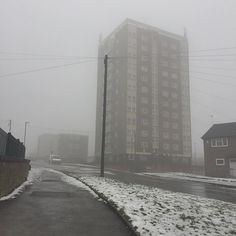 Ghostly... #armley #leeds #yorkshire #ghostly #fog #mist