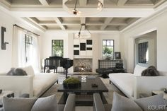 Tour Kourtney Kardashian's Sleek and Sophisticated Living Room via @MyDomaine