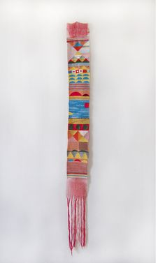 Weaving art by Hannah Waldron Weaving Textiles, Tapestry Weaving, Loom Weaving, Hand Weaving, Weaving Art, Textile Fiber Art, Textile Artists, Textile Patterns, Textile Design