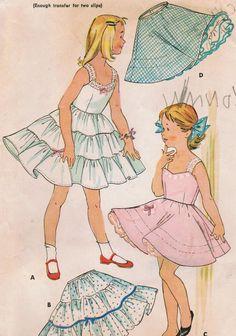 1950s McCall's Girl's Crinoline Slips and Petticoats