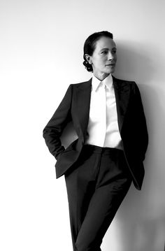 A portrait of a Muse: The stunning Andrea Dellal in A. Sauvage menswear for women