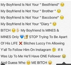 I hate females like this. I get it but you doin a lil bit too much let yo nigga check these bitches . How he handles it tells you all you need to know . RELAX tf , cause the shit isn't even funny Freaky Relationship Goals, Relationship Goals Pictures, Relationship Quotes, Abusive Relationship, Relationships, Funny True Quotes, Bae Quotes, Paragraphs For Him, Couple Quotes