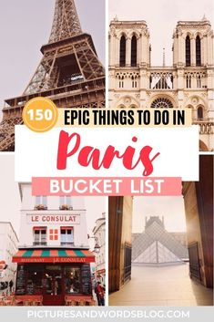 Looking for all the best things to do in Paris? Here are over 150 of the top Paris activities, sights, experiences, food, and more! Whether you are looking to plan your first Paris trip, or a return visitor, you'll find something to add to your Paris bucket list! Paris travel guide | Paris itinterary | France travel Sweden Travel, Norway Travel, Spain Travel, France Travel, Azerbaijan Travel, Paris Bucket List, Albania Travel, Paris Travel Guide, Visit France