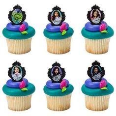 12 Disney Descendants Cake Cupcake Rings by jenuinecraftsandmore