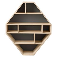 "32.5"" Diamond Shaped Wood Bookcase                                                                                                                                                                                 Mehr"