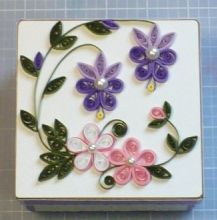 Let's create: Quilling Altered Paper Mache Box and Tin Can