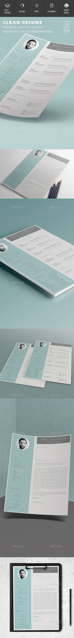 524 best Resume templates images on Pinterest | Layout design, Page ...