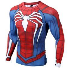 The unique Rashguard Long Sleeves Tshirt Spider-man Sportswear GYM Workout - #accessories #apparel #Clothes #croptops #crossfit #equipmentforsale #gear #gearformen #gym #Jackets #jumpsuit #leggingsuk #rashguard #rashguard #rashguards #sportswear #Workout