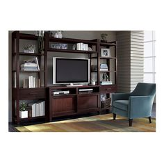 """60"""" Media Console with Two Media Towers and Bridge. 116""""Wx19""""Dx80""""H  $2600  Solid poplar & walnut veneer        Console has two adjustable shelves, each tower has four fixed shelves (two inlaid with glass)  $2600    Media console. 60"""" Media Console.  60""""Wx19""""Dx30.25""""H"""