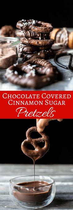 Chocolate Covered Cinnamon Sugar Pretzels | halfbakedharvest.com @hbharvest