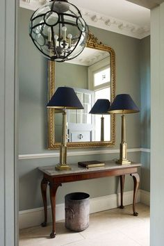 Grey hallway ideas apartment to home foyer design, wainscoti Hall Mirrors, Hallway Mirror, Hallway Wallpaper, Wainscoting Kitchen, Wainscoting Bedroom, Black Wainscoting, Painted Wainscoting, Wainscoting Panels, Wainscoting Ideas