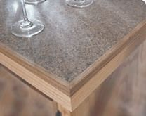 Countertop Laminated With Mesa Gold Showing A Wood Edge