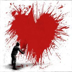 Celebrating #WordHeartDay  http://www.world-heart-federation.org/ Banksy (so perfect for Valentine's Day)