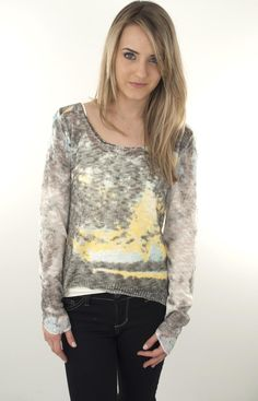 Lizard Thicket - Daisies on the Water Top, $44.50- NOW SELLING ONLINE!!
