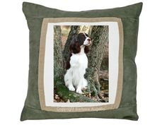 English Springer Spaniel Throw Pillow by Barbara Augello for Dogimage