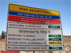 It is essential to check road conditions before you start on a track in the Australian Outback. Australia Living, South Australia, Western Australia, Australian Desert, Farm Kids, Road Conditions, Weather Report, Tonne