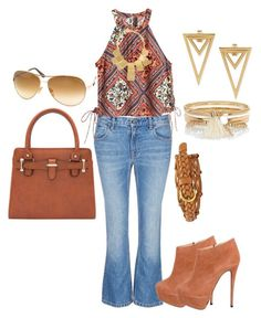 Flare Jeans by christinarussell33 on Polyvore featuring polyvore moda style Alexander Wang Giuseppe Zanotti River Island Kenneth Jay Lane Tom Ford FOSSIL fashion clothing