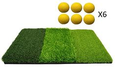 HealPT Golf Mat for Indoor or Outdoor Practice Multi Surface Golf Hitting Mat Perfect for Backyard Practice 6 Foam Golf Balls Included -- For additional information, see picture web link. (This is an affiliate link). Golf Hitting Mats, Golf Mats, Elizabeth Arden White Tea, Upright Exercise Bike, Natural Brushes, Golf Practice, Golf Chipping, Golf Training, Asics Women