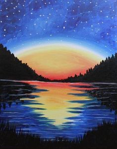 We host painting events at local bars. Come join us for a Paint Nite Party! Easy Canvas Painting, Painting & Drawing, Canvas Art, Canvas Paintings For Kids, Acrylic Canvas, Painting Lessons, Painting Tips, Oil Pastel Art, Beginner Painting