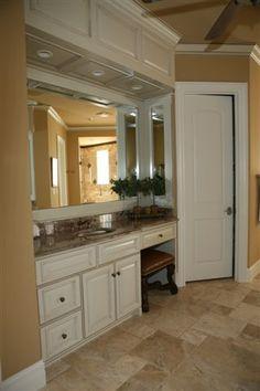 Custom white bathroom